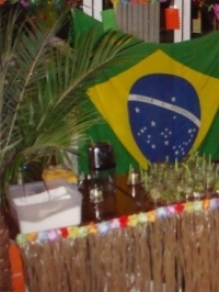 Caipirinha cocktails prepared and served at Brazilian Party